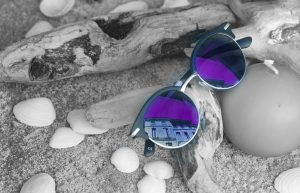 purple AR coating applied on sunglasses